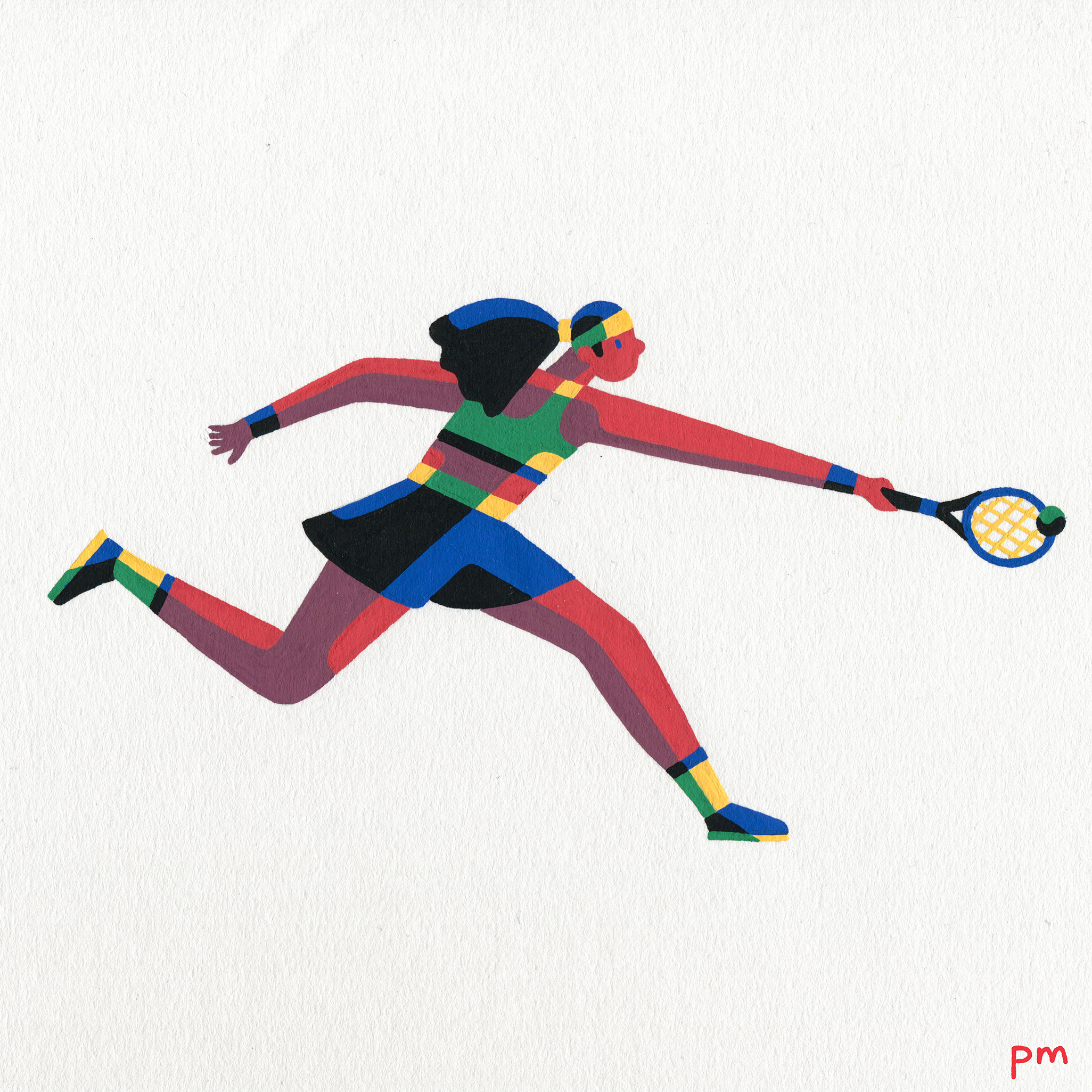 Inspired by Serena Williams and my love of the sport tennis, this illustration was created using acrylic based posca markers