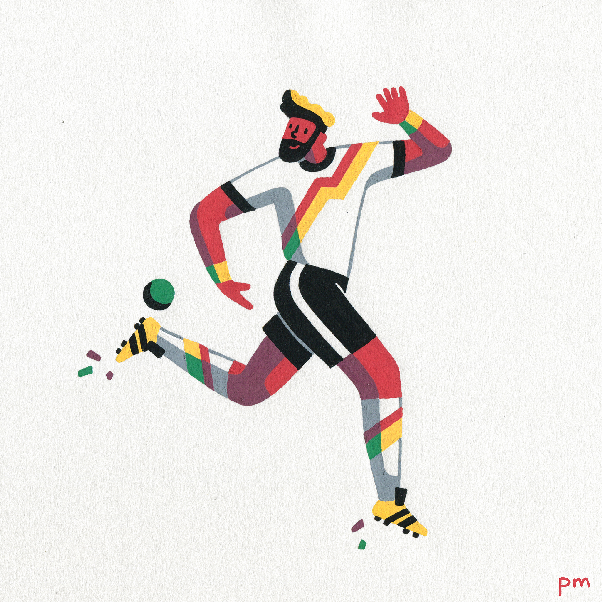 An illustration of a German footballer to celebrate my favourite team, Germany, for the World Cup.